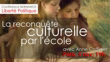 """Paris, Espace Bernanos, 5 novembre, 19h : """"La reconquête culturelle par l'école : un enjeu décisif"""""""